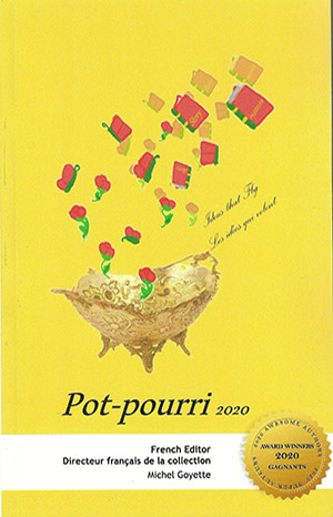 Page couverture de l'anthologie pot-pourri 2020